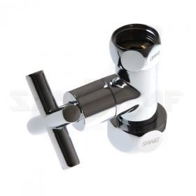 Вентиль крест запорный прямой Smart SMT8730sch1010 1*x1* г/г. С кранами.