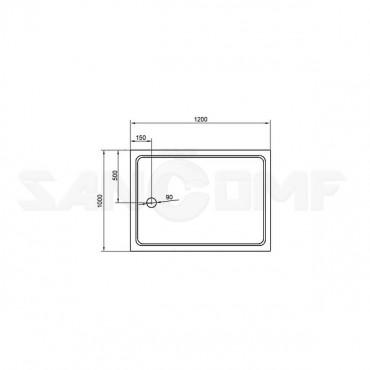 Поддон Cezares Tray 120/100 для душа прямоугольный, акриловый
