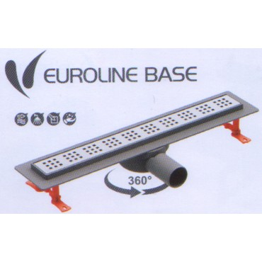 VALTEMO  VLD 520 Трап линейный EUROLINE BASE d 50mm  с решеткой в комплекте