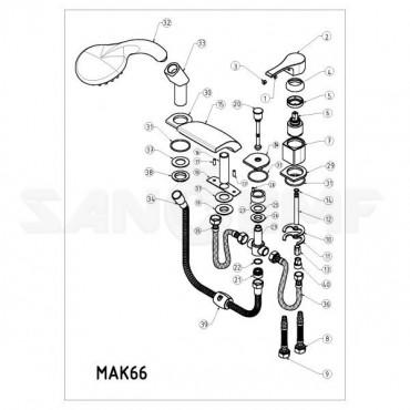 GPD ATROS MAK66 смеситель на борт ванны