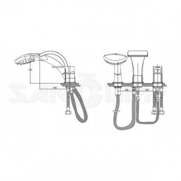 GPD ATROS MAK 65 смеситель на борт ванны