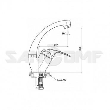 GPD Eko MTL80 смеситель для умывальника