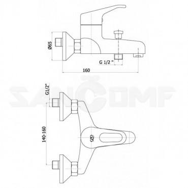 GPD Kalipso MBB20 смеситель для ванны