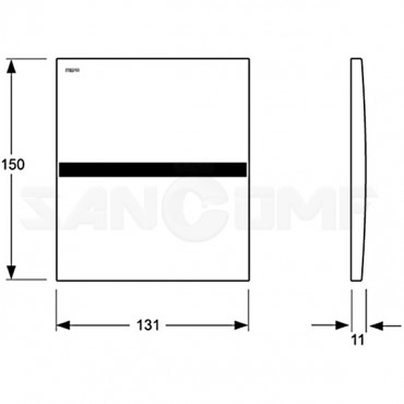 Кнопка смыва для писсуара MEPA Sanicontol 925 718241 сенсорная, хром