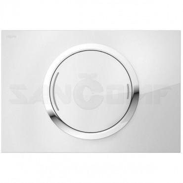 Кнопка смыва MEPA Zero 421854 белое стекло