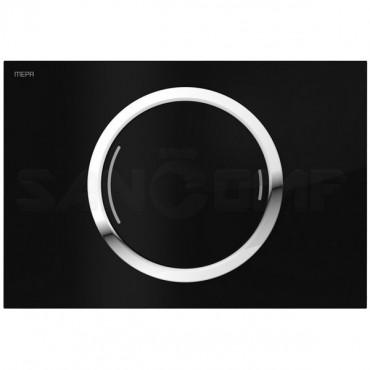 Кнопка смыва MEPA Zero 421855 черное стекло