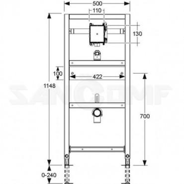 Система инсталляции для писсуаров Mepa VariVIT 532010