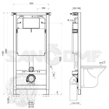 Система инсталляции для унитазов Migliore Better Norm ML.BTR-27.660 без кнопки