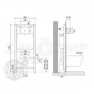Система инсталляции для унитазов Migliore Better Pol ML.BTR-27.661 без кнопки