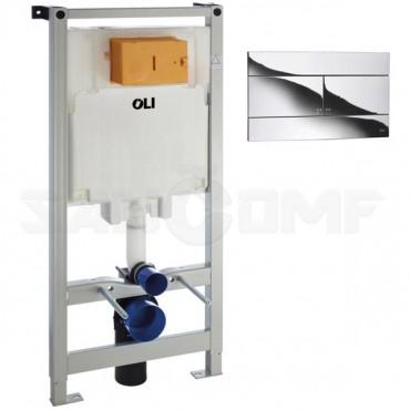 Система инсталляции для унитазов OLI 300572mSl00 с кнопкой хром глянец