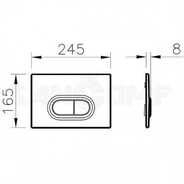 Кнопка смыва VitrA Loop 740-0580 хром глянцевый