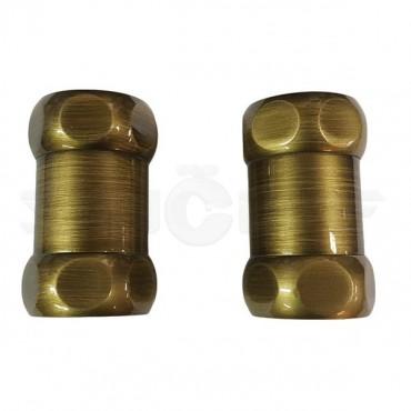 Американка прямая для полотенцесушителя бронза Г/Г1x1