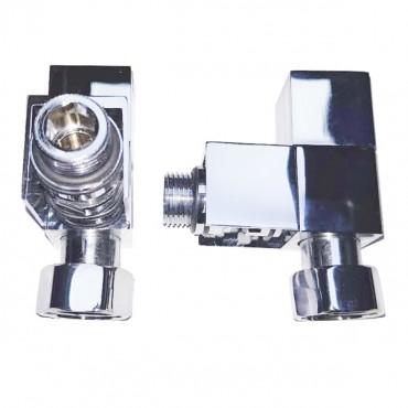 Вентиль запорный угловой квадратный SMT 8549SCH0405 3/4 1/2 г/ш С кранами
