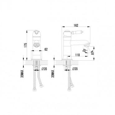 Lemark Villa LM4806B смеситель для умывальника