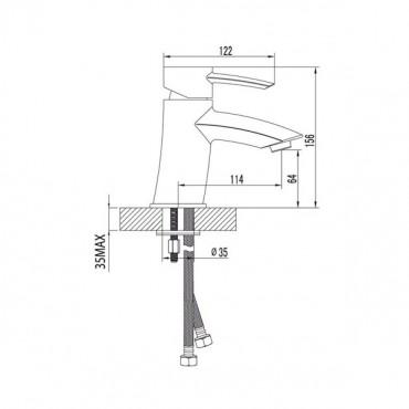 Lemark Atlantiss LM3206C смеситель для умывальника