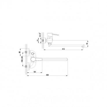 Lemark Atlantiss LM3217C смеситель для ванны универсальный