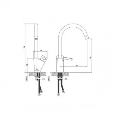 Lemark Atlantiss LM3205C смеситель для кухни