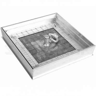 Люк напольный Левша Премиум под плитку, глубина 54 мм