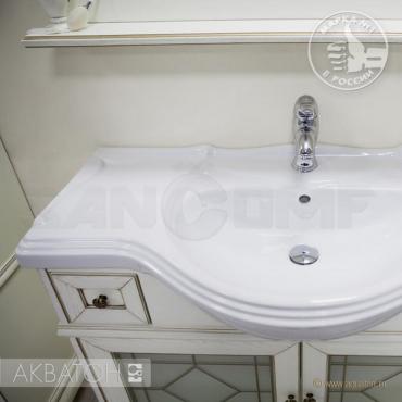 Мебель для ванной Акватон Беатриче 85 слоновая кость с патиной (Цена указана за тумбу и умывальник)
