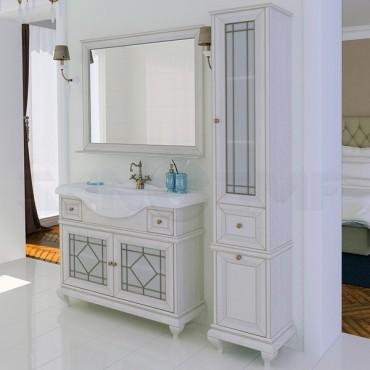 Мебель для ванной Акватон Беатриче 105 слоновая кость с патиной (Цена указана за тумбу и умывальник)