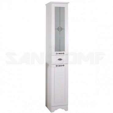 Мебель для ванной ASB-Woodline Бергамо 65 белый, патина серебро
