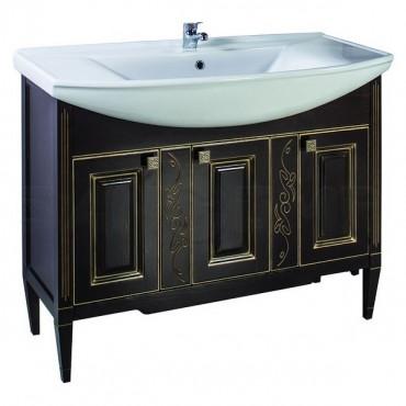 Мебель для ванной ASB-Woodline Модена 105 орех с золотой патиной