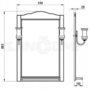 Мебель для ванной ASB-Woodline Римини Nuovo 60 антикварный орех