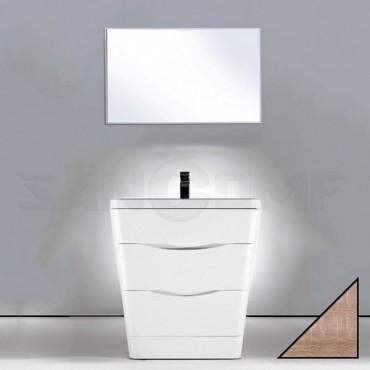 Мебель для ванной BelBagno Piramide 80 rovere bianco