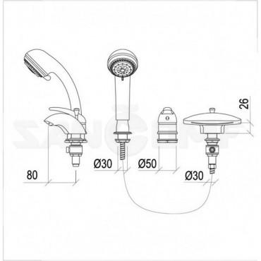 NSK Grand Niagara 20905.02 смеситель на борт ванны