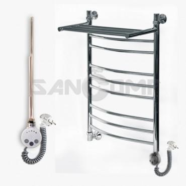Электрический полотенцесушитель ЛД/ВП(Г2) для ванной с полкой