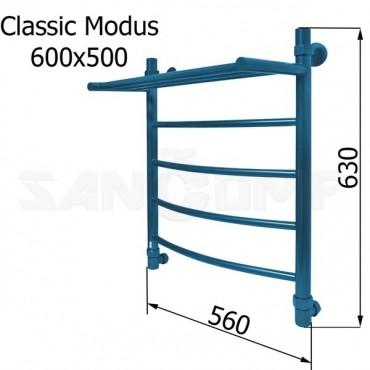 Водяной полотенцесушитель Energy Classic Modus RAL5025 600x500 (синий)