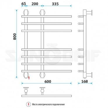 Электрический полотенцесушитель ENERGY («ЭНЕРДЖИ») Galaxy 800x600