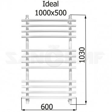 Полотенцесушитель водяной Energy Ideal RAL9003 1000x500 (белый)