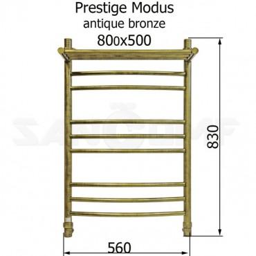 Водяной полотенцесушитель Energy Prestige Modus 800x500 антик бронза