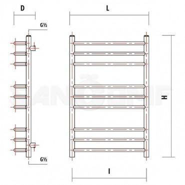 Электрический полотенцесушитель Garcia Родос никель хром