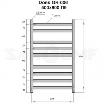 Полотенцесушитель электрический GROIS Dors GR-006 П9 gitzwart A