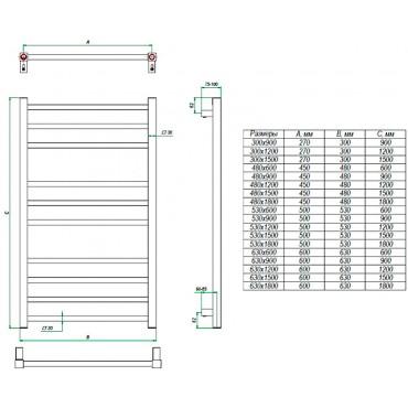 Полотенцесушитель водяной Estro идеальный дизайн радиатор