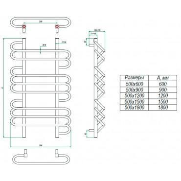 Полотенцесушитель водяной Rivolo Grota идеальный дизайн радиатор.