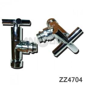 Вентиль крест запорный угловой (zz-4704) 3/4х1/2 г/ш. С кранами.