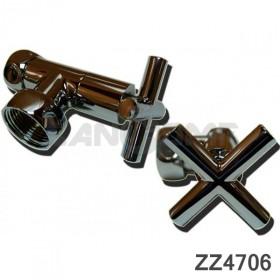 Вентиль крест запорный угловой (zz-4706) 3/4-1* г/г. С кранами.