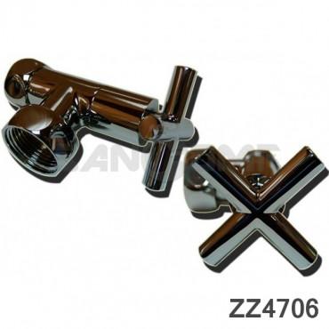 Вентиль крест запорный угловой (ZZ-4706) 3/4-1* г/г с кранами для полотенцесушителя