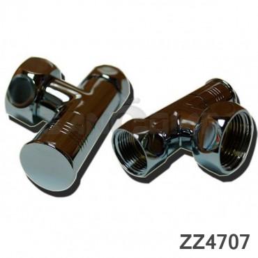 Вентиль запорный угловой (zz-4707) 1*х3/4 г/г с кранами для полотенцесушителя