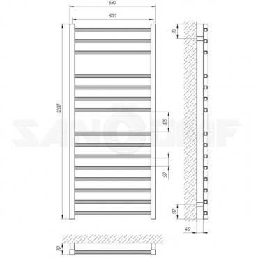 Водяной полотенцесушитель Laris Имидж П15 120x50