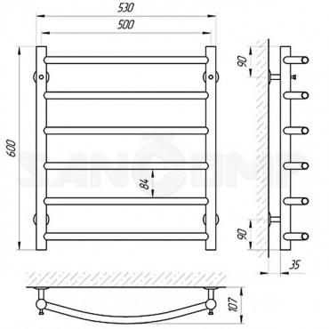 Водяной полотенцесушитель LARIS («ЛАРИС») Классик П6