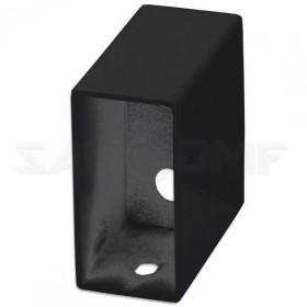 Модуль черный квадратный для проводки