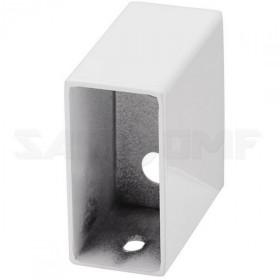 Модуль белый квадратный для проводки