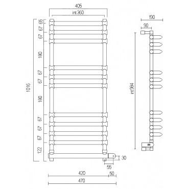 Электрический полотенцесушитель MARGAROLI («МАРГАРОЛИ») Luna 534/11/470