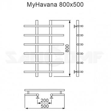 Полотенцесушитель водяной MyFrea MyHavana