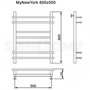 Полотенцесушитель водяной MyFrea MyNewYork