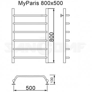 Полотенцесушитель водяной MyFrea MyParis